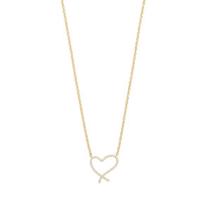 An image of a Stephen Webster I Promise to Love You Heart Diamond Necklace