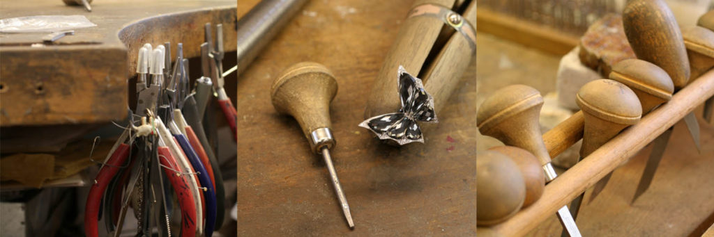 An Image at the Stephen Webster Mayfair Jewellery Workshop showing craftsmanship