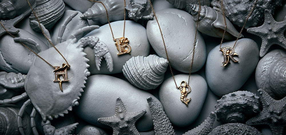 Stephen Webster yellow gold and diamond Fish Tales collection