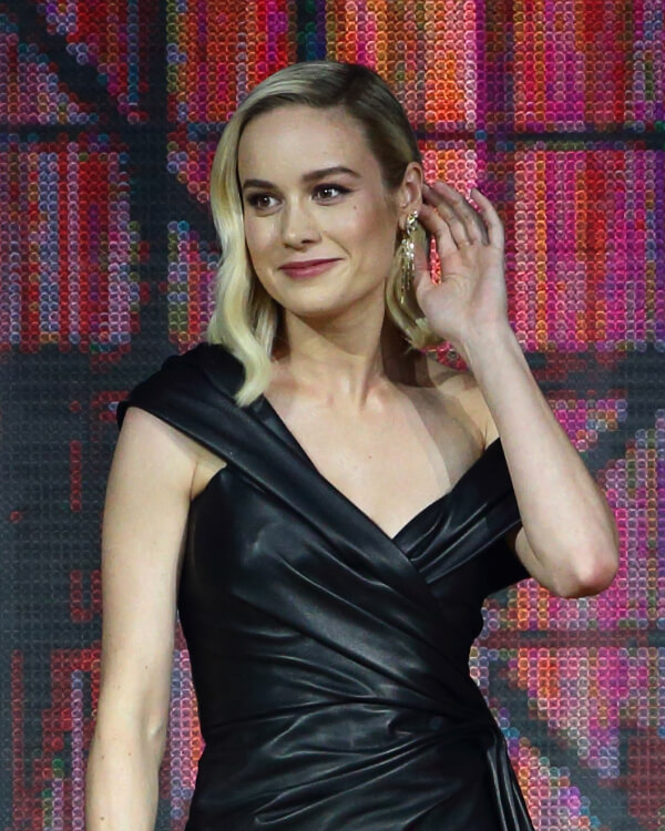 Brie Larson wearing Dynamite Cascade Earrings.