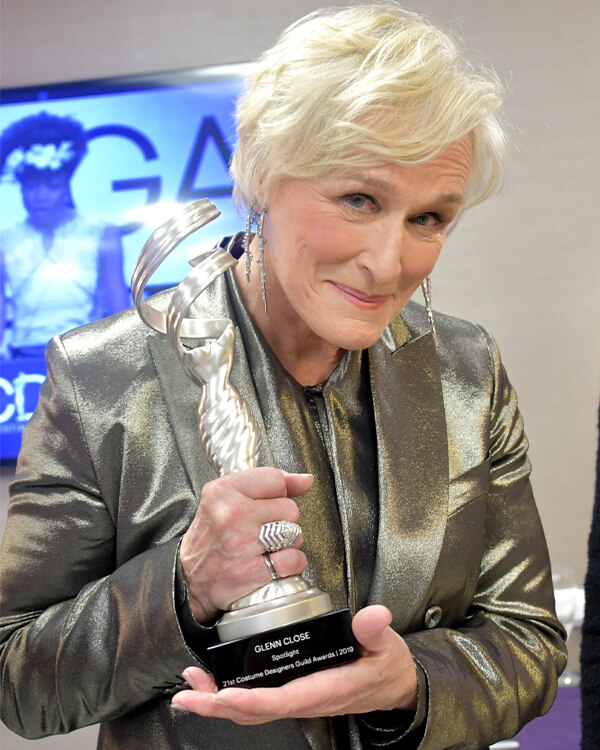 Glenn Close wearing Lady Stardust Ring.