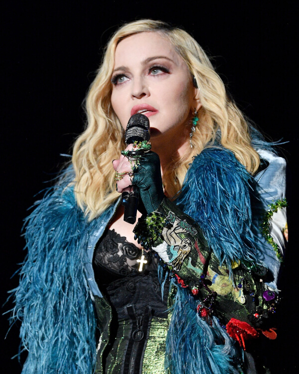 Madonna wearing Fly By Night Crystal Haze Grasshopper Ring