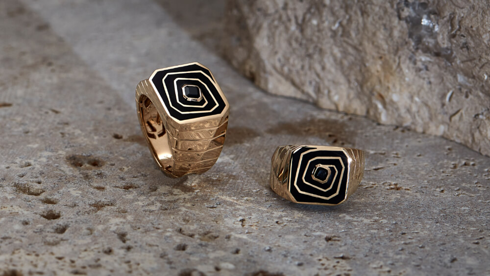 The new men's Vertigo Losing Perspective Rings.