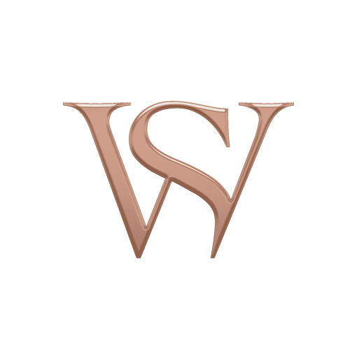 White Gold Large Hoop Earrings with Black Diamond | Thorn