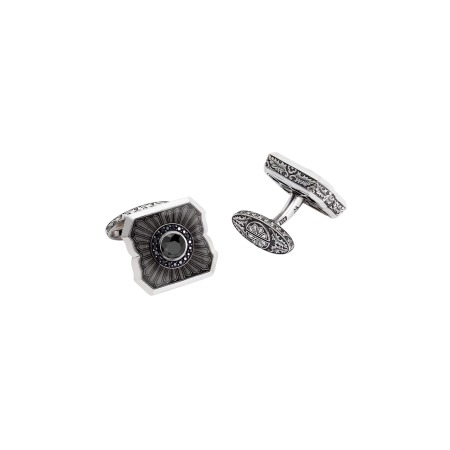 Cuban Leaf Black Sapphire Cufflinks | England Made Me
