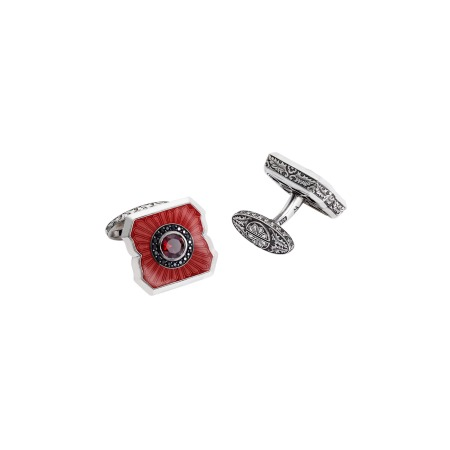 Cuban Leaf Red Garnet Cufflinks | England Made Me