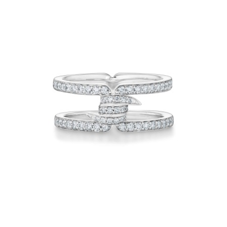 Forget Me Knot White Diamond Band Ring | No Regrets Chapel