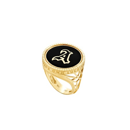 Flipside Mini Yellow Gold Ring | Mens | Stephen Webster