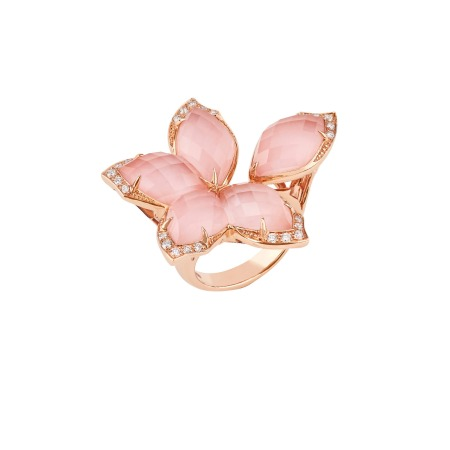 Large Rose Gold Ring   Love Me, Love Me Not