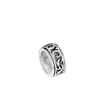 Men's Silver Carved Rotating Ring | Thorn