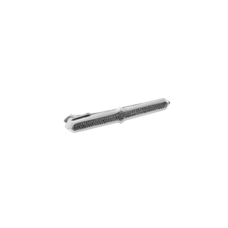 Men's Black Sapphire Silver Stem Tie Pin | Thorn