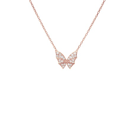 Rose Gold Pavé Small Necklace | Fly By Night