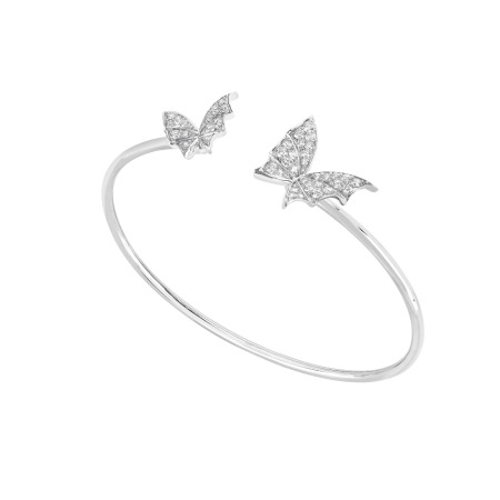 White Gold & White Diamond Bangle | Fly By Night