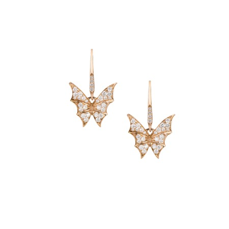 Rose Gold Pavé Small Earrings | Fly By Night