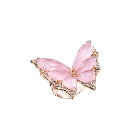 Rose Gold Crystal Haze Large Ring | Fly By Night