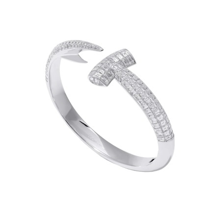 White Gold Hammerhead White Diamond Bangle | Hammerhead