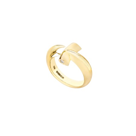 Yellow Gold Hammerhead Ring | Hammerhead