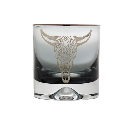 Smoke Tumbler with Engraved Cow | Stephen Webster