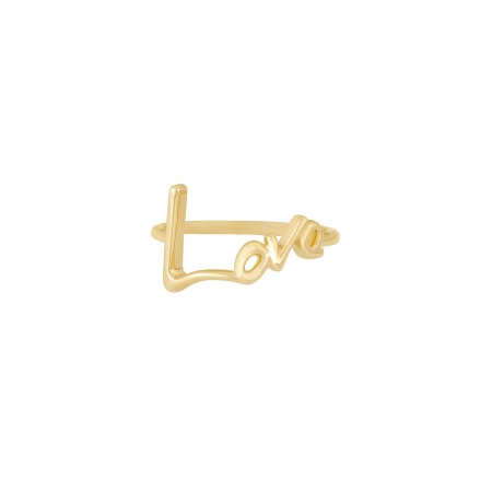 Neon Yellow Gold Love Ring   I Promise To Love You