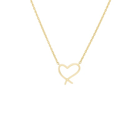Yellow Gold Heart Pendant | I Promise To Love You