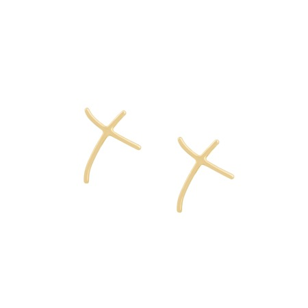 Neon Yellow Gold Kiss Earrings   I Promise To Love You