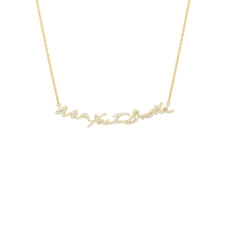 Neon Yellow Gold With You I Breathe Pendant with Diamonds | I Promise To Love You