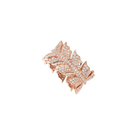 Rose Gold Pavé Band Ring With White Diamond | Magnipheasant