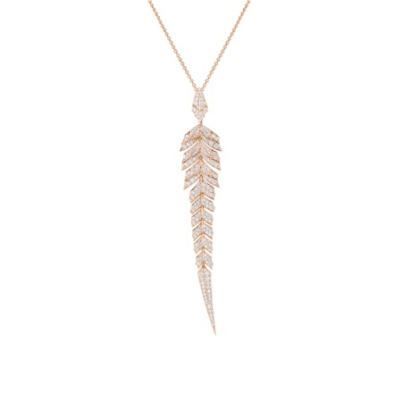 Pavé Pendant With White Diamonds Set In Rose Gold | Magnipheasant