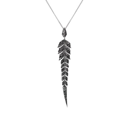 Pavé Pendant With Black Diamonds Set In White Gold | Magnipheasant
