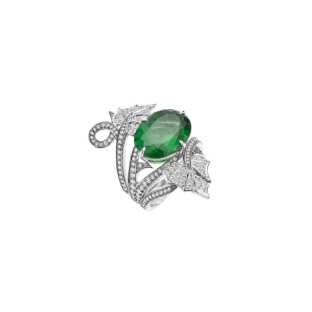 Poison Ivy Green Tourmaline Cocktail Ring | No Regrets