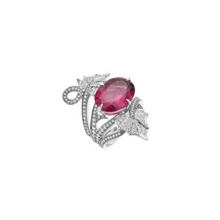 Poison Ivy Rubellite Cocktail Ring   No Regrets