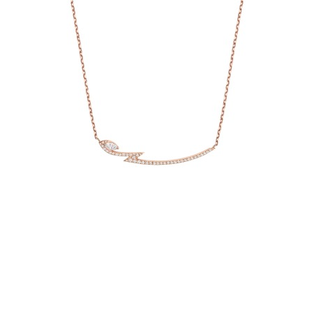 Rose Gold Marquise Pendant With White Diamonds | Thorn