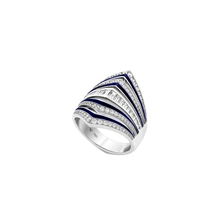 White Gold and Diamond Gaining Perspective Ring | Vertigo