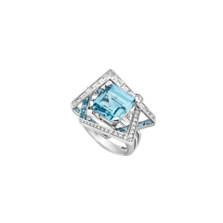Vertigo Lost Horizon Cocktail Aquamarine Ring | Vertigo