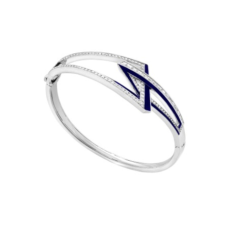 White Gold and White Diamond Obtuse Bracelet | Vertigo