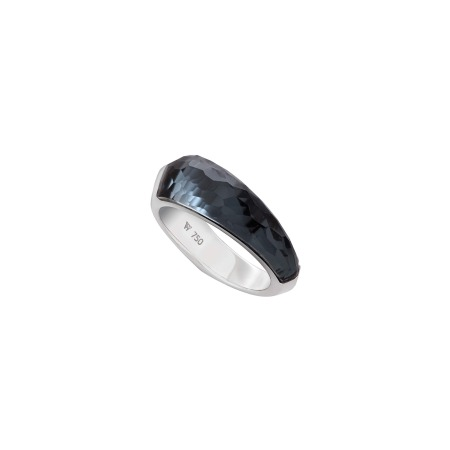 Hematite Crystal Haze Shard Stack Ring | CH₂