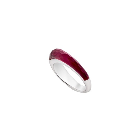 Synthetic Ruby Crystal Haze Slimline Shard Stack Ring | CH₂