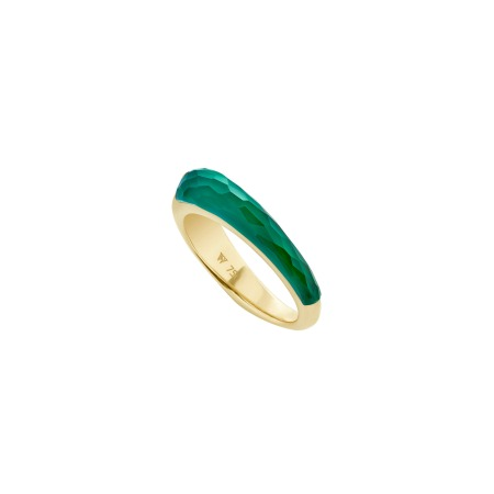 Green Agate Crystal Haze Slimline Shard Stack Ring | CH₂