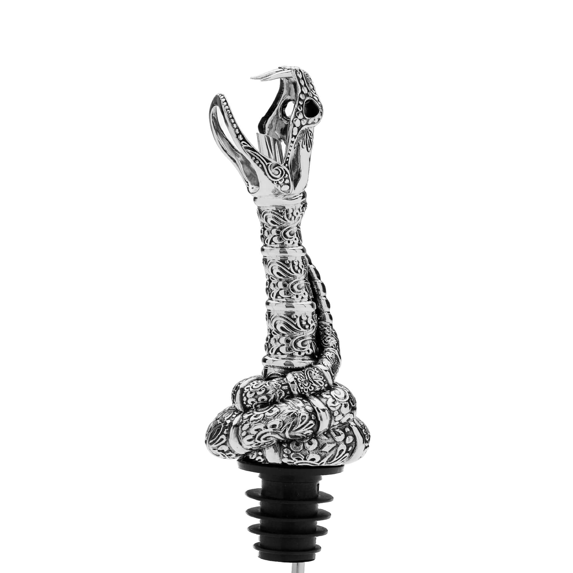 Silver Snake Skull Pourer with Mouth Spout | Stephen Webster