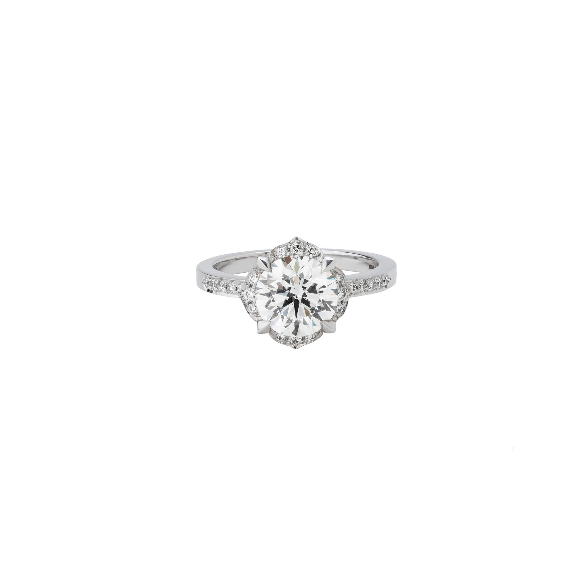 Heritage White Gold Diamond Engagement Ring | Stephen Webster