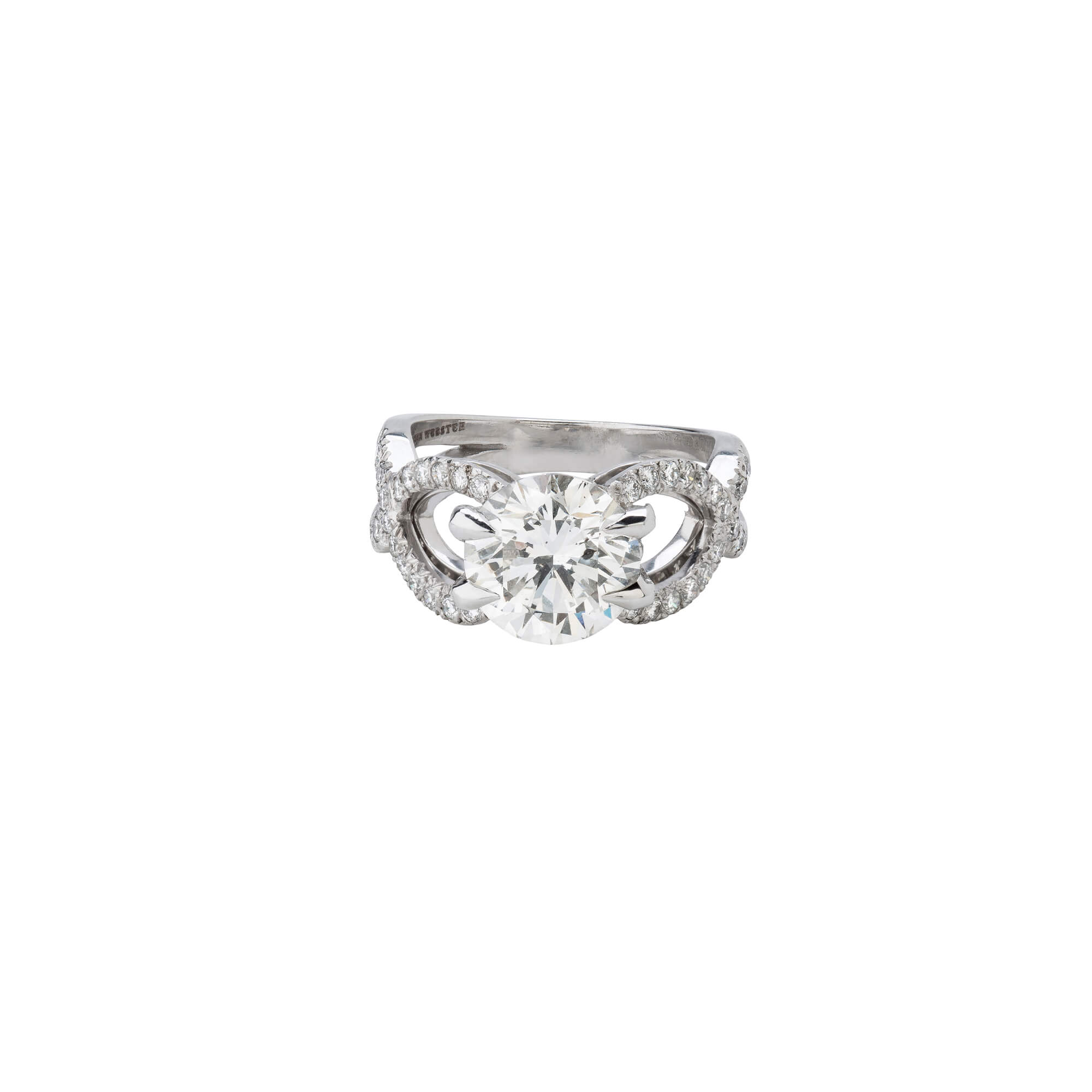 White Gold Diamond Engagement Ring | Stephen Webster
