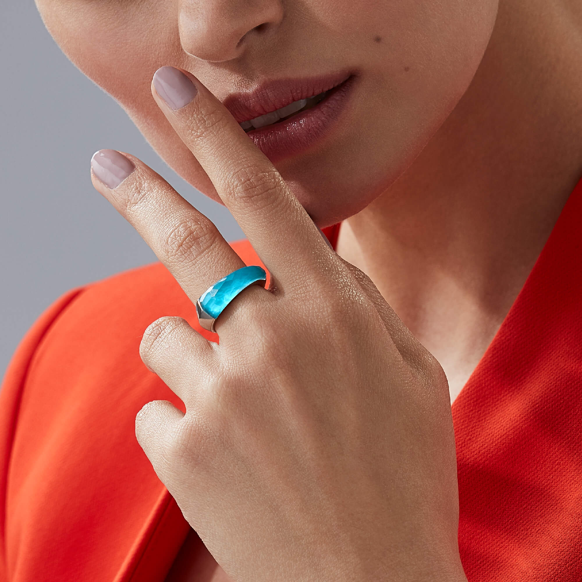 Turquoise Crystal Haze Shard Stack Ring | CH₂