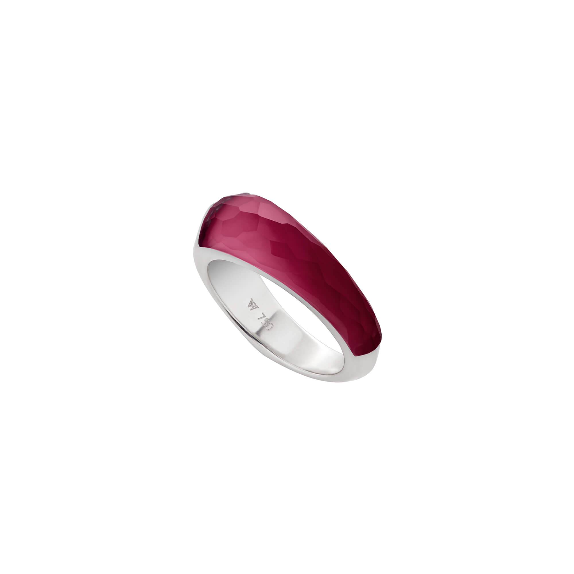 Ruby Crystal Haze Shard Stack Ring | CH₂