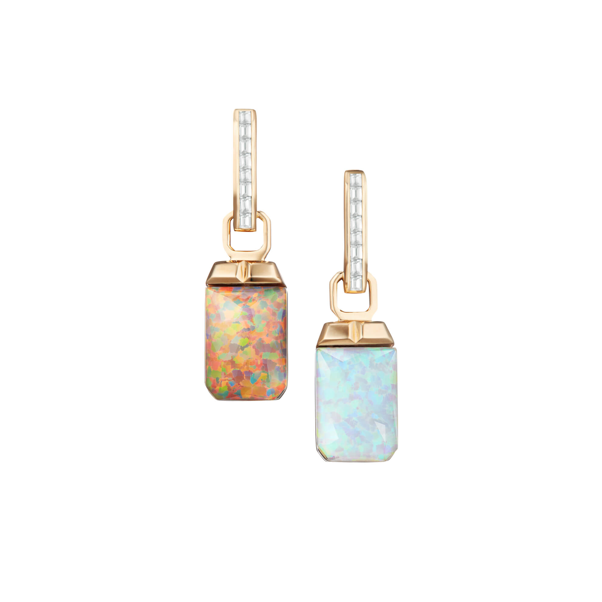 Crystal Haze Tablet Twister Diamond Earrings | CH₂