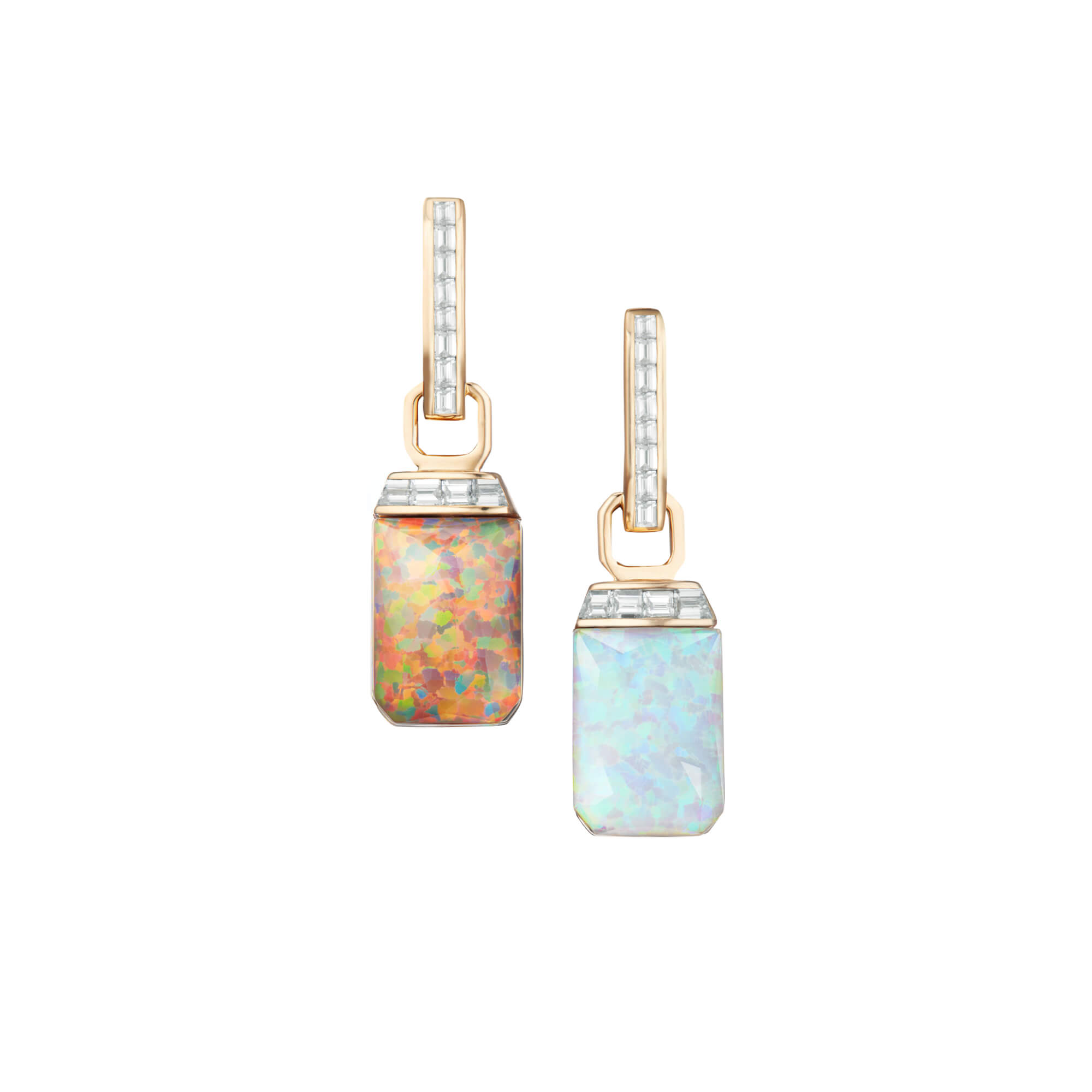 Crystal Haze and Diamonds Tablet Twister Diamond Earrings | CH₂
