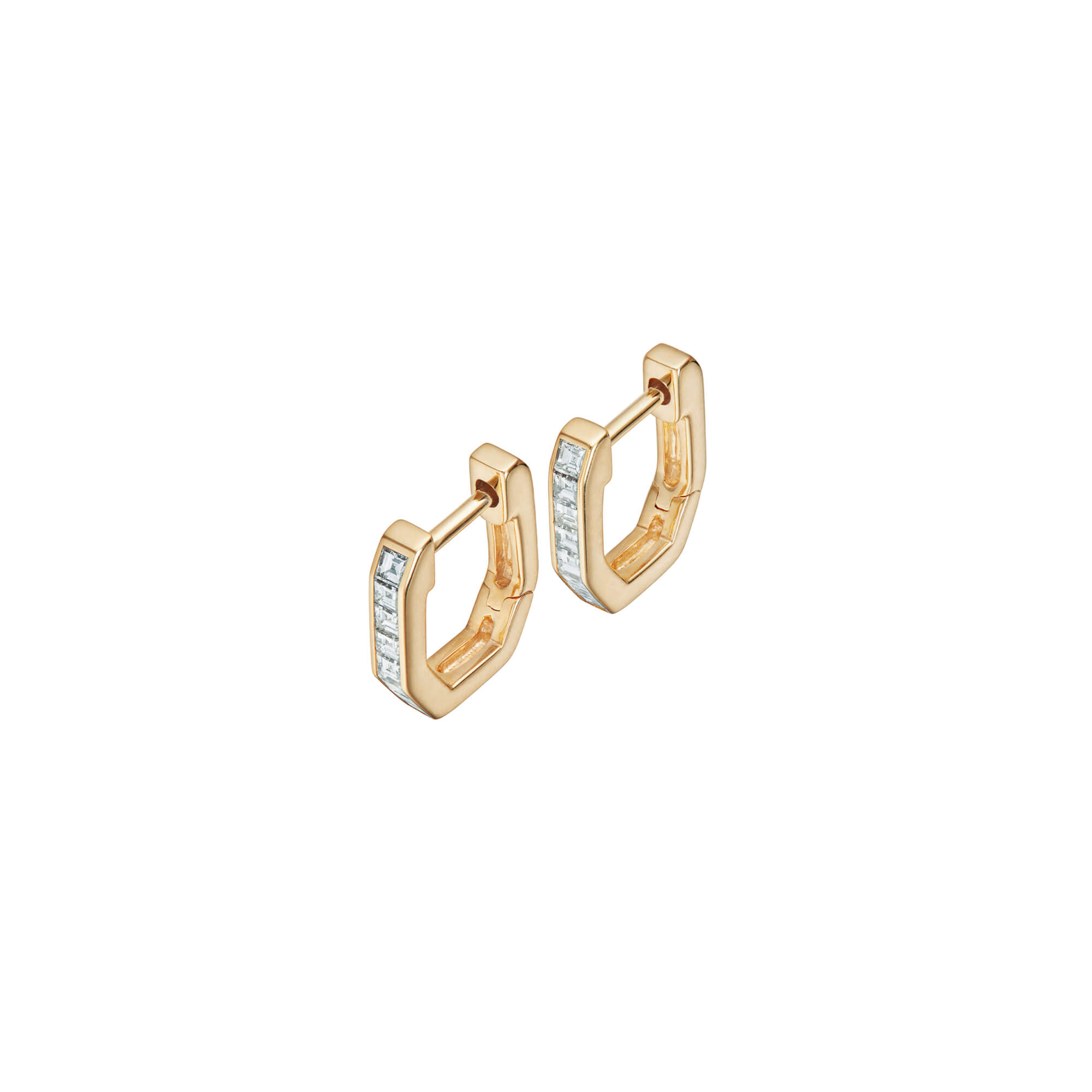 18ct Yellow Gold and White Diamonds Sleepers | CH₂