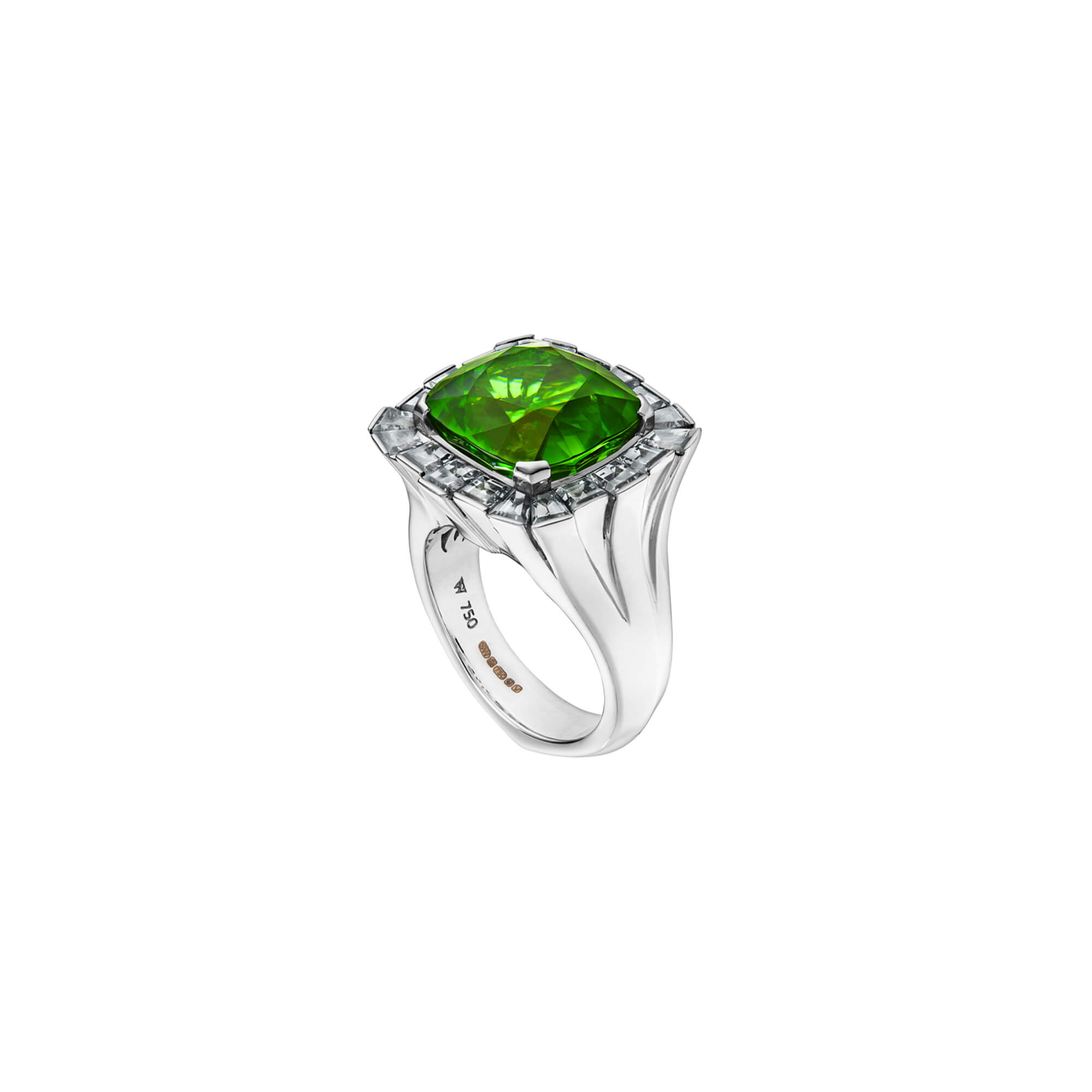 Peridot City Skyline White Gold Ring | No Regrets