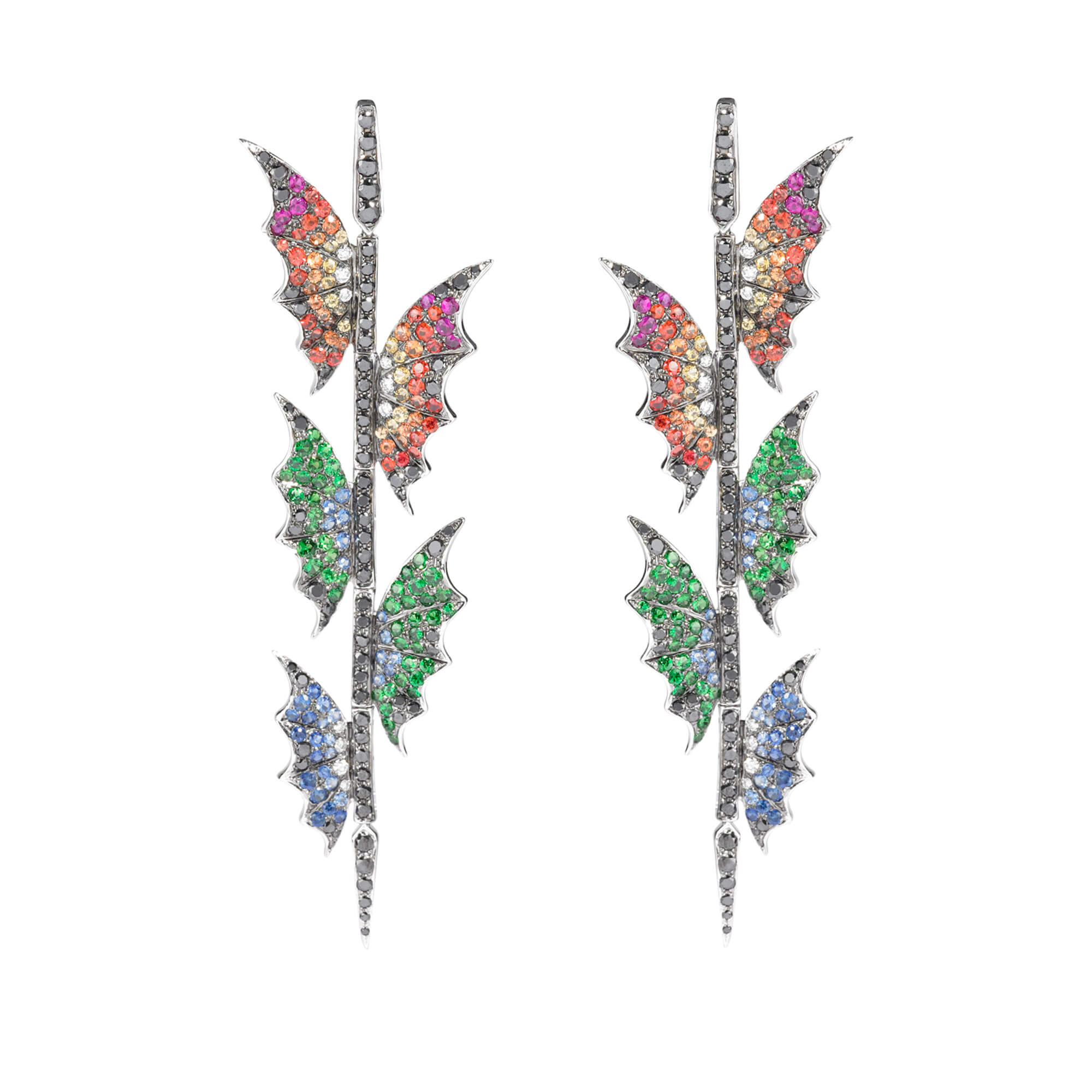 White Gold Africa Long Earrings | No Regrets