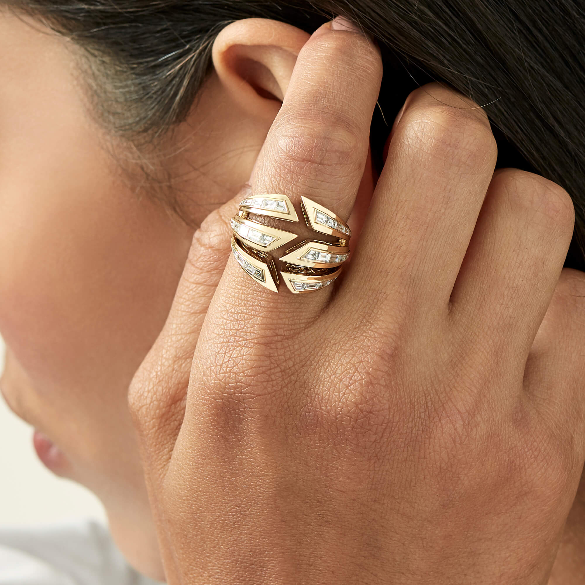 Yellow Gold Bombé Ring | Dynamite