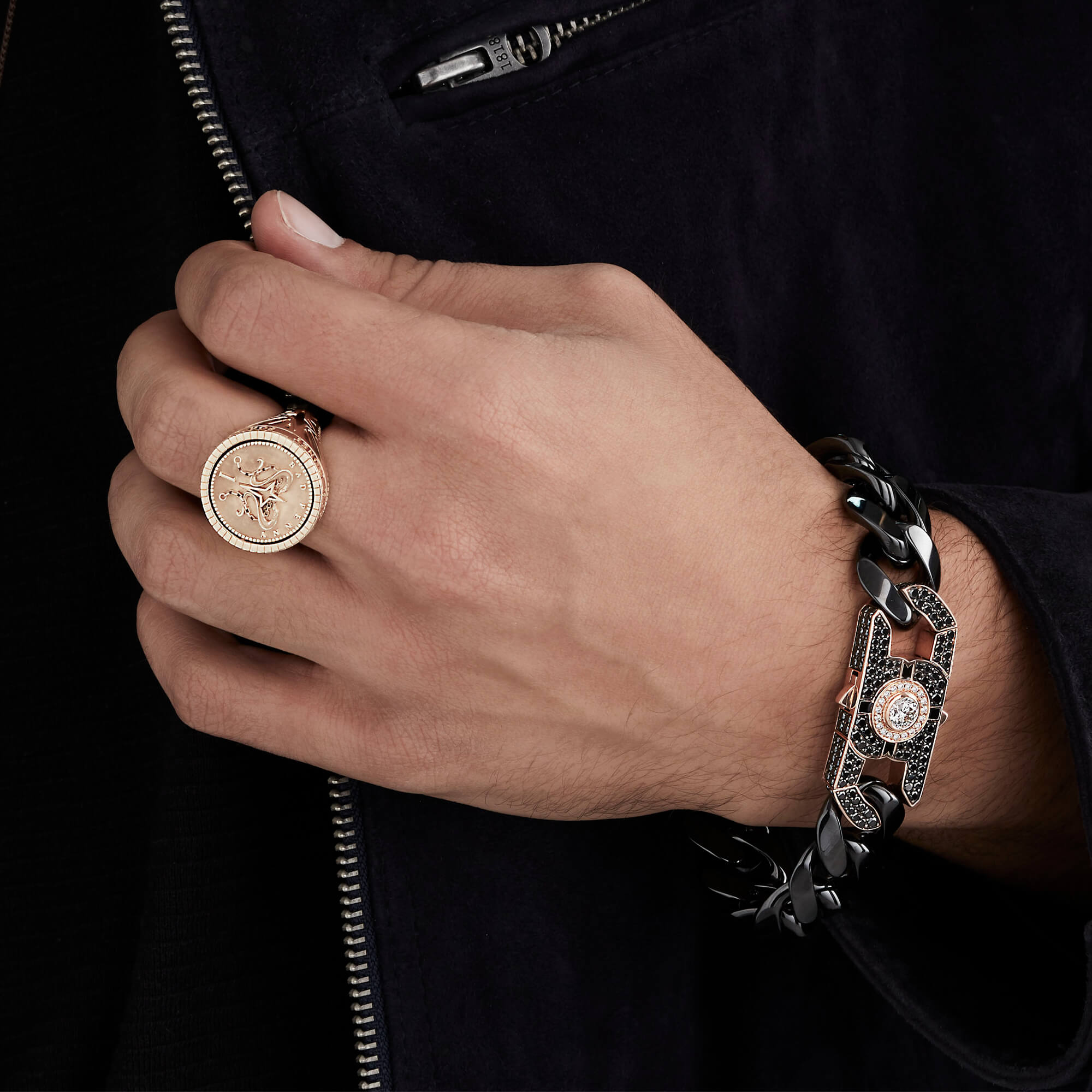 Men's Black and Gold Churchill Clasp | England Made Me